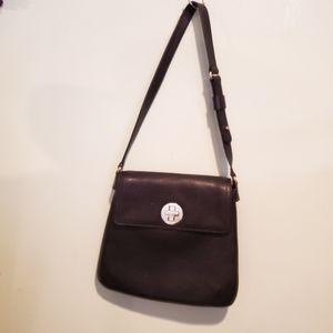 Kate Spade Perforated Design Black Leather Bag